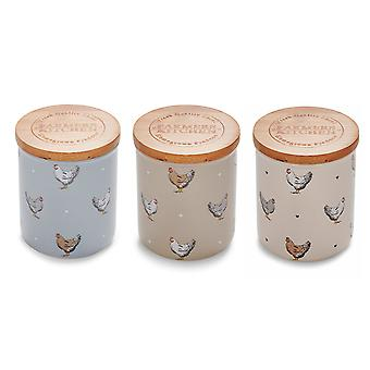 Cooksmart Farmers Kitchen Set of 3 Canisters