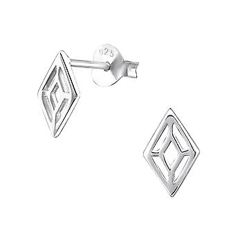 Marquise - 925 Sterling Silver Plain Ear Studs - W31742X