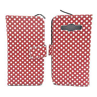 Mobile phone case pochette pour mobile Samsung Galaxy A3 polka dot rouge