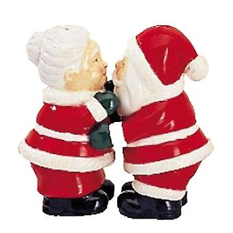 Santa and Mrs. Claus Christmas Holiday Salt and Pepper Shakers Set