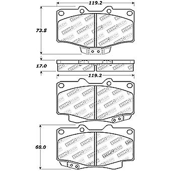 StopTech 309.04360 Street Performance Front Brake Pad