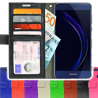 TOP SLIM Wallet Case Huawei Honor 8 + screen Protector