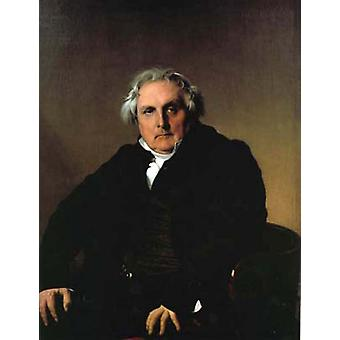 Portrait of Luis-Franqois Bertin, Jean Auguste Dominique Ingres