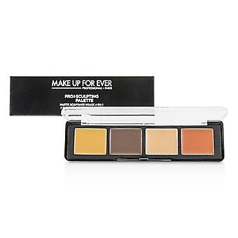 Make-up voor ooit Pro Sculpting palet 4 in 1 gezicht contouring palet-# 50 Dark-10g/0.32 Oz