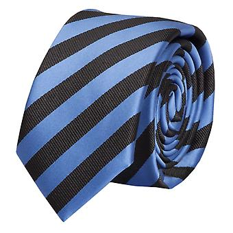 Schlips Krawatte Krawatten Binder 6cm blau schwarz gestreift Fabio Farini