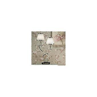 Interiör 1900 Osana 2 ljus bordslampa i Nickel Finish