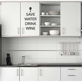 水飲むワインのウォール ステッカーを保存します。
