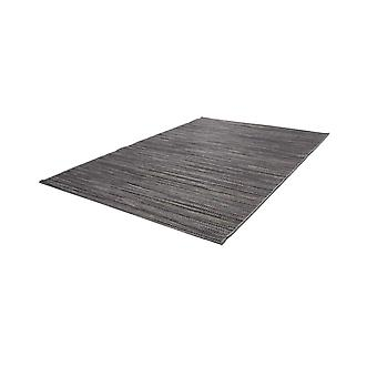 Tapis Sisal Optics Indoor Outdoor Stripe Design Braided Grey Brown Black