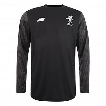 2017-2018 Liverpool Away Long Sleeve Torwart Shirt (schwarz) - kein sponsor