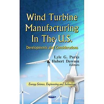 Fabricação de turbinas de vento nos EUA