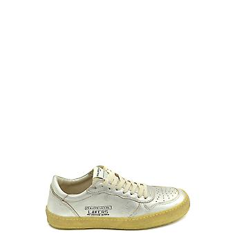 Philippe Modelo Ezbc019033 Mujer's Silver Leather Sneakers