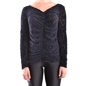 Armani Collezioni Ezbc049117 Women's Black Cotton Sweater
