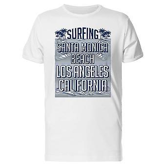 Surfing, Santa Monica Beach Tee Men-kuva: Shutterstock