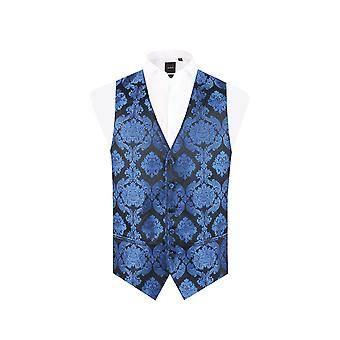 Dobell chłopcy niebieski wiktoriański kamizelka Żakardowa regularny krój