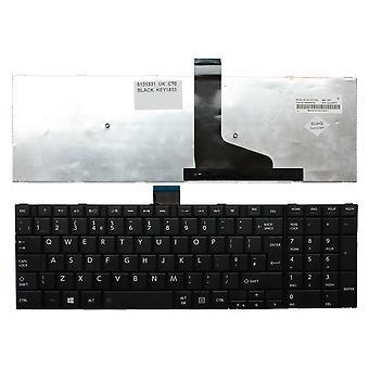 Teclado de Laptop Toshiba Satellite C70-A-10J preto Windows 8 UK Layout substituição