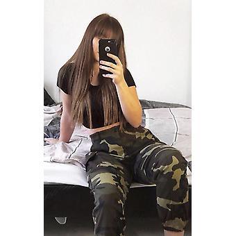 IKRUSH Womens Avril gerades Bein Tarnung High-Rise Jeans
