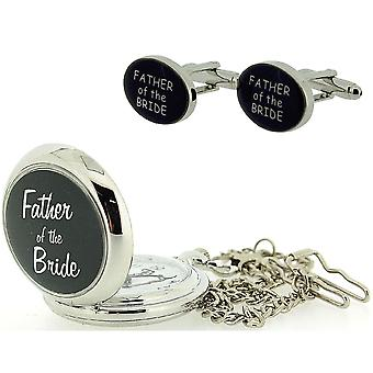 Boxx Father Of the Bride Pocket Watch With 12