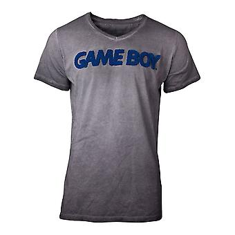 Nintendo T-Shirt acide lavé GameBoy Mens T-shirt gris X-large (TS127478NTN-XL)