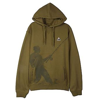 Lrg Fish Lyfe Pullover Hoodie Olive