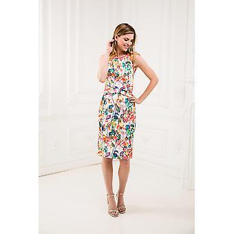 Çiçekli kalem elbise