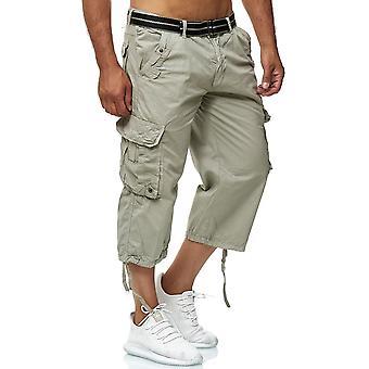 Pantalones cortos de carga para hombre Long Bermuda Bottoms 3/4 algodón pantalones casuales pantalones al aire libre