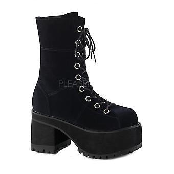 Demonia Ranger 301 Velvet Platform Boot