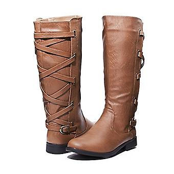 Sara Z Ladies Riding Boot With Lace Up Back Strap