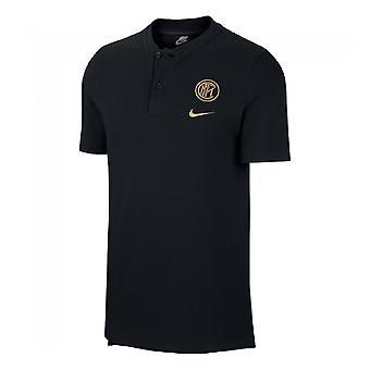 2019-2020 Inter Milan Authentic Polo shirt (zwart)