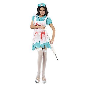 Costume da infermiere di Bristol Novelty Womens/Ladies Blood Splattered