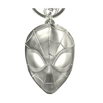 Metal Key Chain - Marvel - Spider Man Head Pewter New 68758