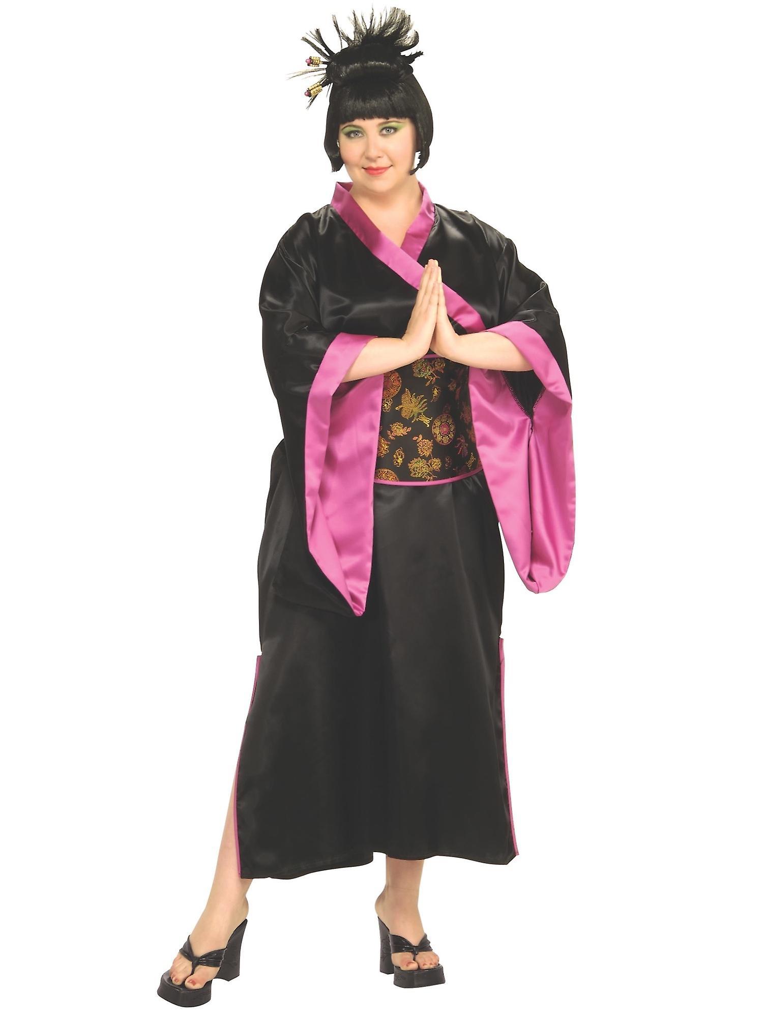 Geisha japansk kimono asiatisk Japan Mulan Harmony Day voksen kvinner kostyme pluss