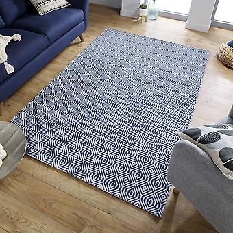 Cotone Pappel Rugs In Blue