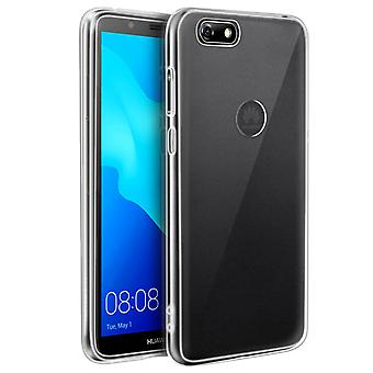 Tough rear clear case + shock absorbing silicone bumper Huawei Y5 2018 /Honor 7S