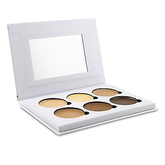 Bellapierre Cosmetics Contour & Highlight Cream Palette (6x Contour & Highlight) - 24g/0.84oz