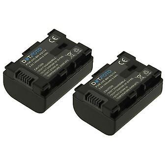 2 x batterij van de vervanging BN-VG114 Dot.Foto JVC - 3.6V / 1400mAh