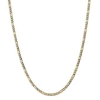 14k 3.5 mm semi Solid Figaro reťaz členok náramok šperky Darčeky pre ženy-dĺžka: 7 až 10
