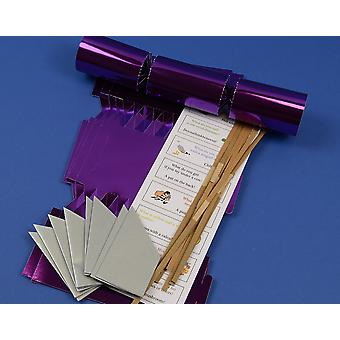 12 Purple Foil Fill Your Own DIY Christmas Cracker Making Craft Kit