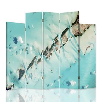 Dekorative Raumteiler, 5 Panels, doppelseitig, drehbare Leinwand, 360, abstraktes Wasser 2