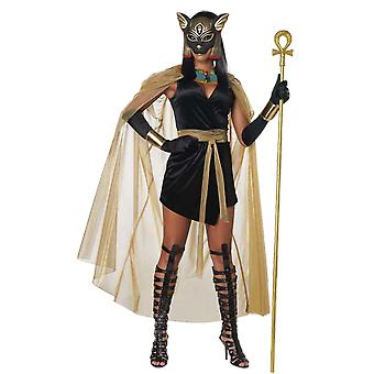 Womens Egyptian Goddess Costume Bastet Cleopatra Halloween Fancy Dress