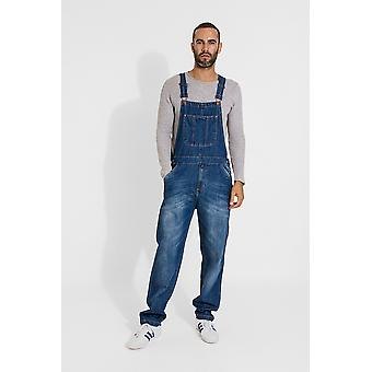 Christopher loose fit dungarees - stonewash