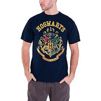 Harry Potter T skjorte Galtvort Crest Logo offisielle nye blå mens