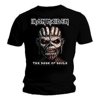 Camiseta de hombre de hierro Maiden libro de almas