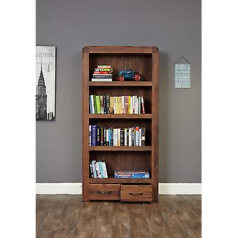 Shiro Walnut Large 2 Drawer Bookcase Brown - Baumhaus