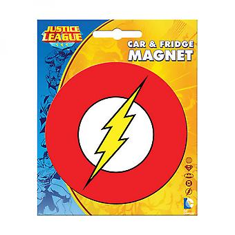 The Flash Car and Fridge Magnet