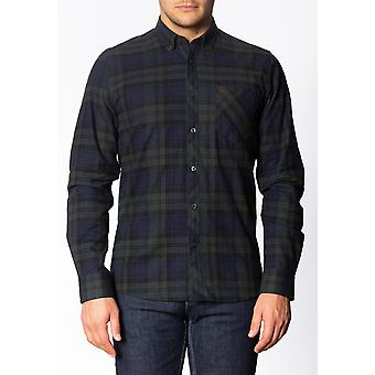 Merc CYPRUS, Men's Long Sleeve Flannel Shirt with Large Check Pattern
