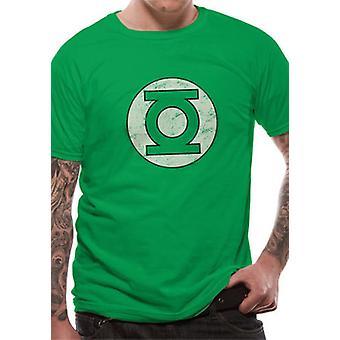 Groene lantaarn-verdrietig logo T-shirt