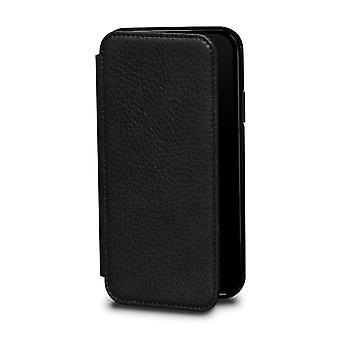 Case For IPhone Xs / IPhone X In True Leather Black Card Holder
