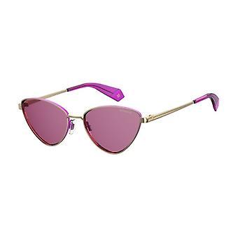 Polaroid PLD6071/S/X S9E/0F Ouro-Violeta/Óculos de sol cor-de-rosa polarizados
