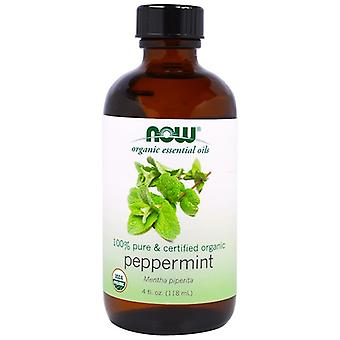 Organic Essential Oils- Peppermint (118 ml) - Now Foods