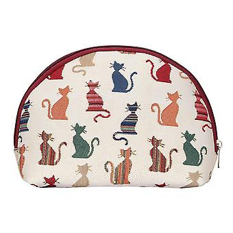 Cheeky cat big cosmetic bag by signare tapestry / bgcos-cheky